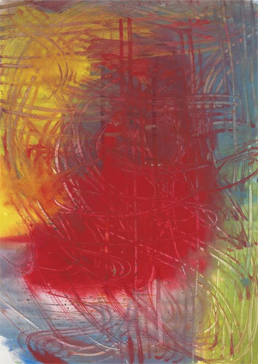 Abstract (HH13), painting, 1988