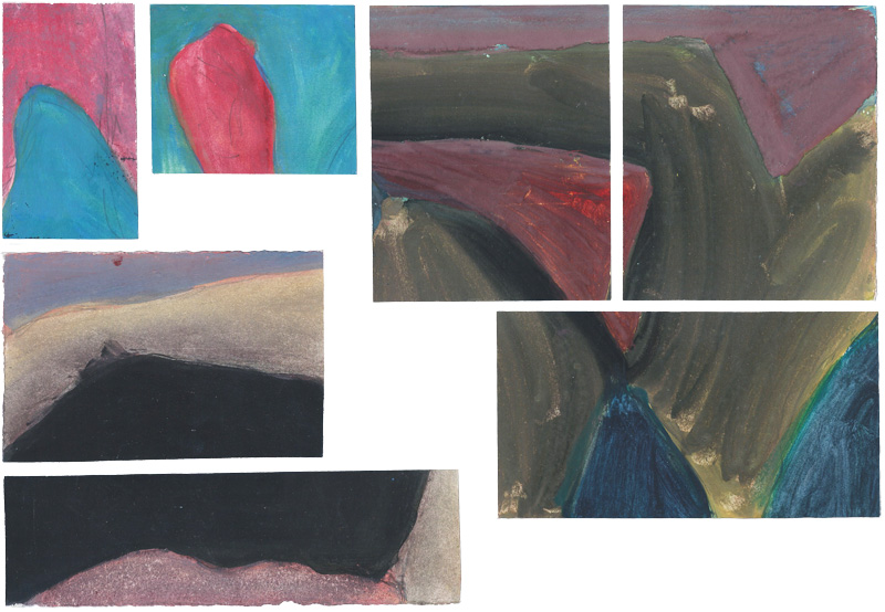 B-sides-1, paintings, 1988