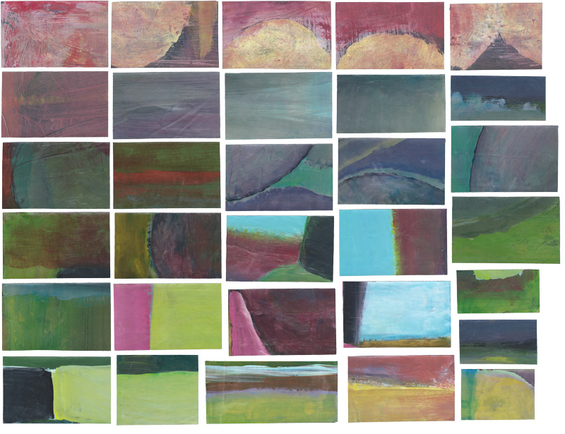 Moodscapes (1-31), paintings, 1988