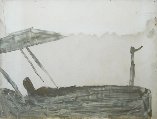 Tractor 1, mixed inks on paper, 1988