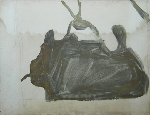 Tractor 2, mixed inks on paper, 1988