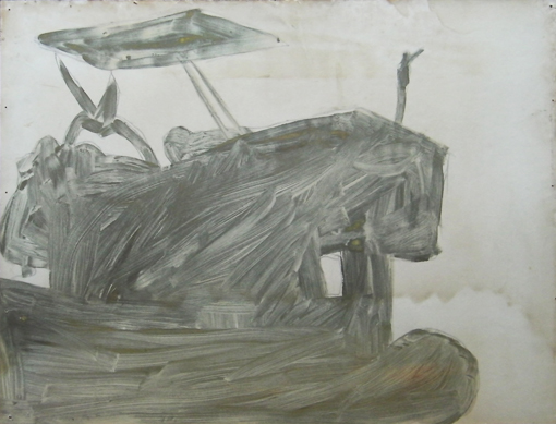 Tractor 5, mixed inks on paper, 1988