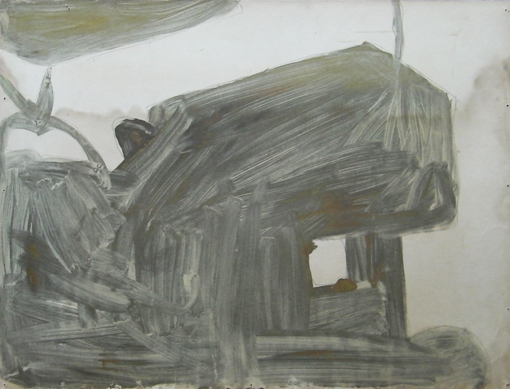 Tractor 7, mixed inks on paper, 1988