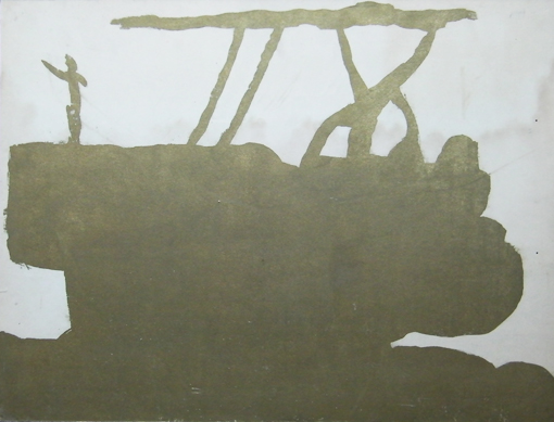 Tractor (lithography), 1988