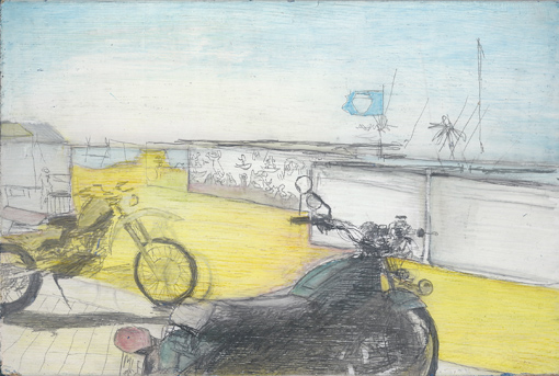 Knokke, drawing, 1989