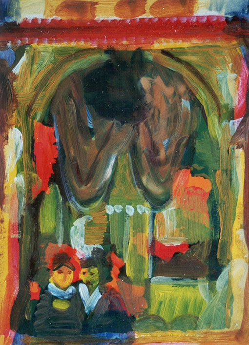 Painted collages 1 (10), Oil on silkscreen, 1992