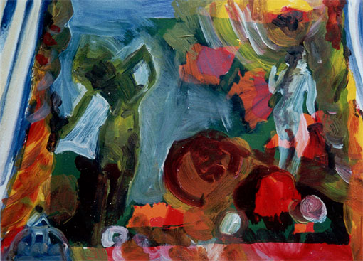 Painted collages 1 (6), Oil on silkscreen, 1992