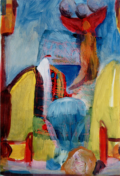 Paint edition 2 (3), Oil on silkscreen, 1992