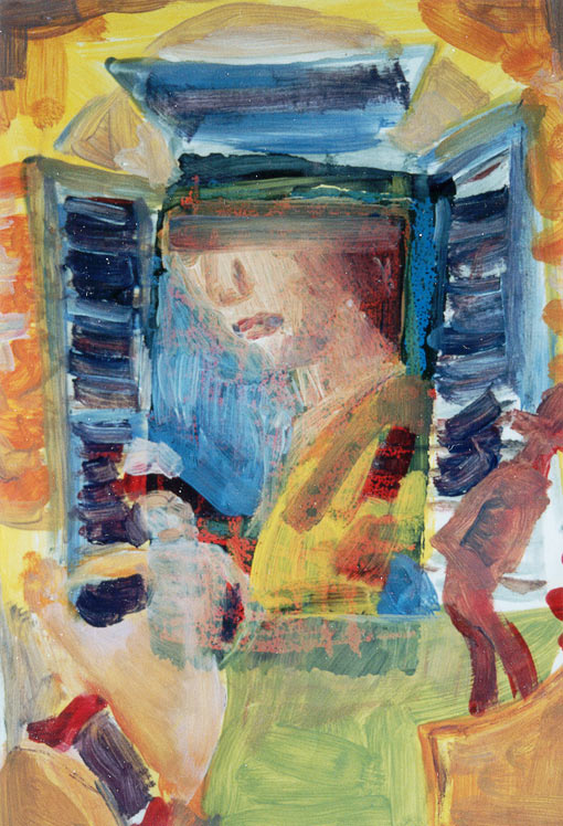 Paint edition 2 (4), Oil on silkscreen, 1992