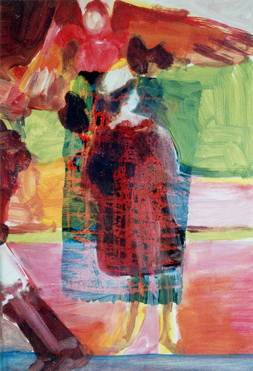 Paint edition 2 (5), Oil on silkscreen, 1992