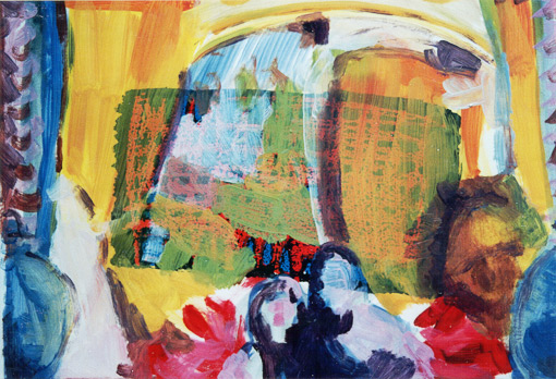 Paint edition 2 (7), Oil on silkscreen, 1992