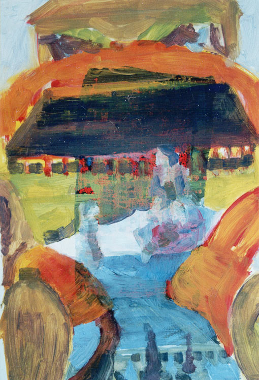 Paint edition 2 (9), Oil on silkscreen, 1992