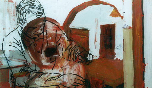 Atelier (14), painting, 1997