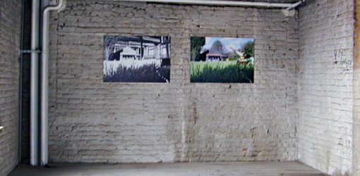 2 printed photomontages at the De Pianofabriek
